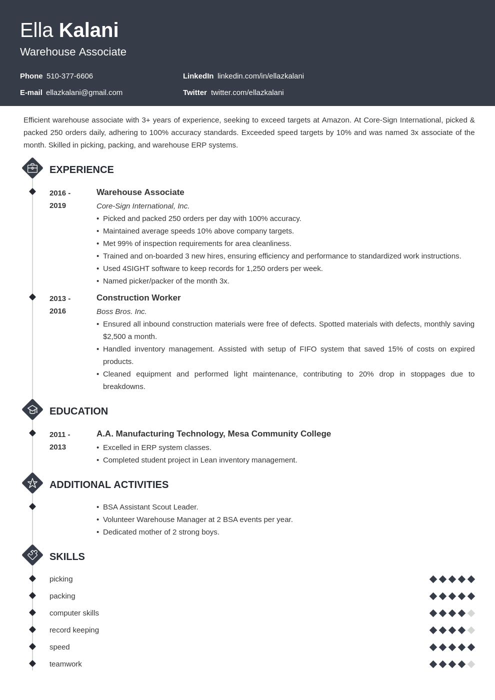 cover letter examples internal position template diamond