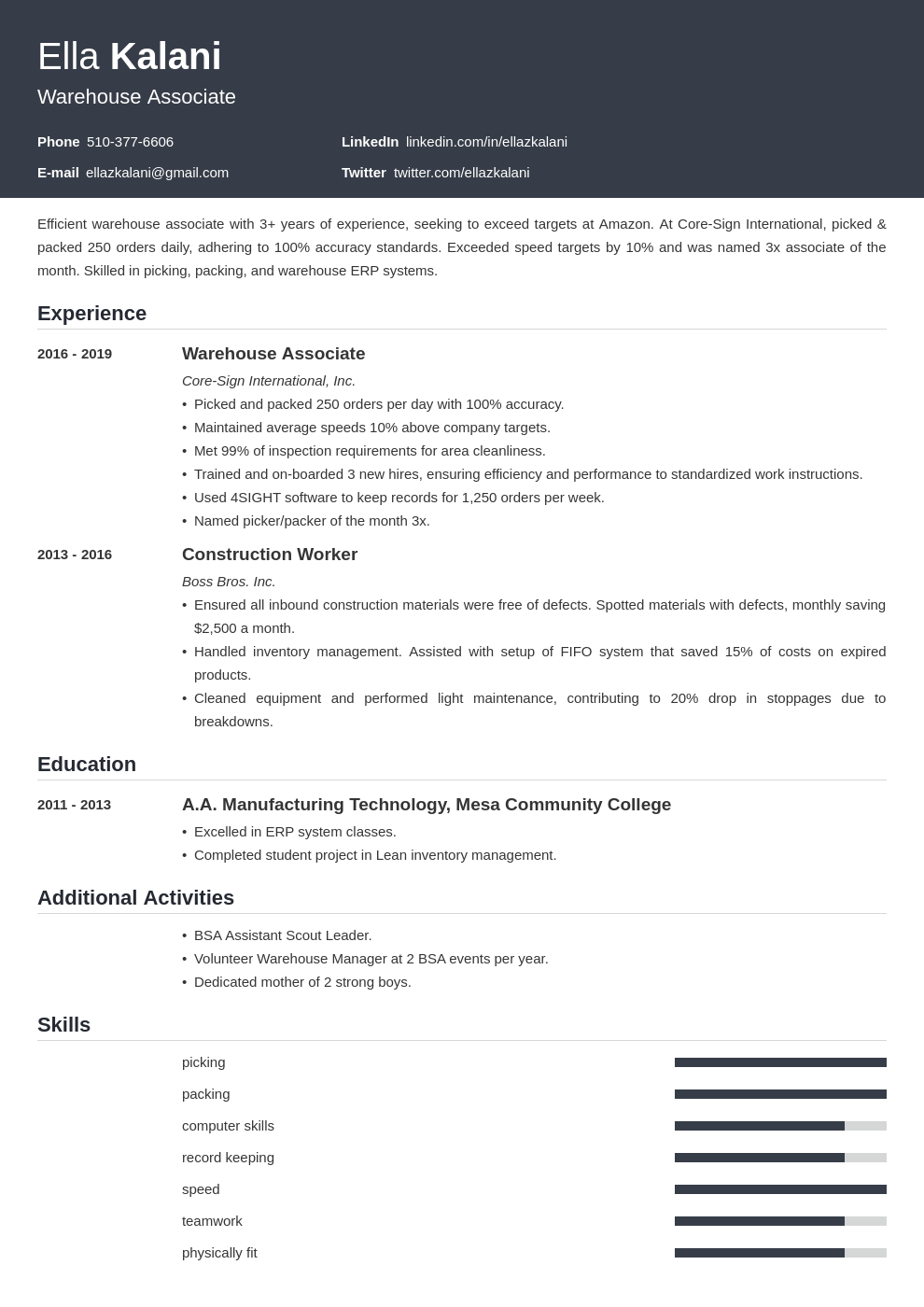 cover letter examples internal position template influx