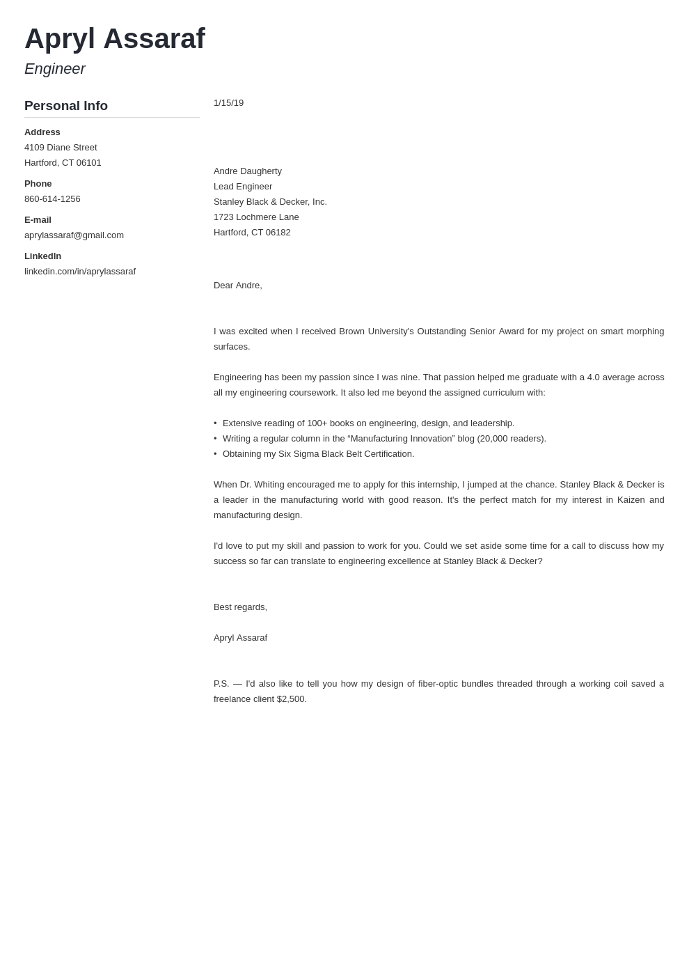 cover letter examples internship template muse