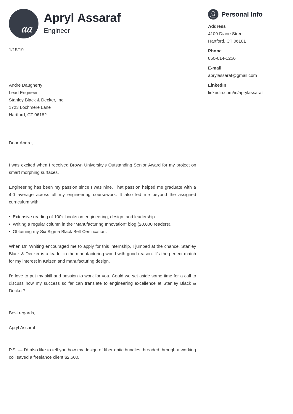 cover letter examples internship template primo