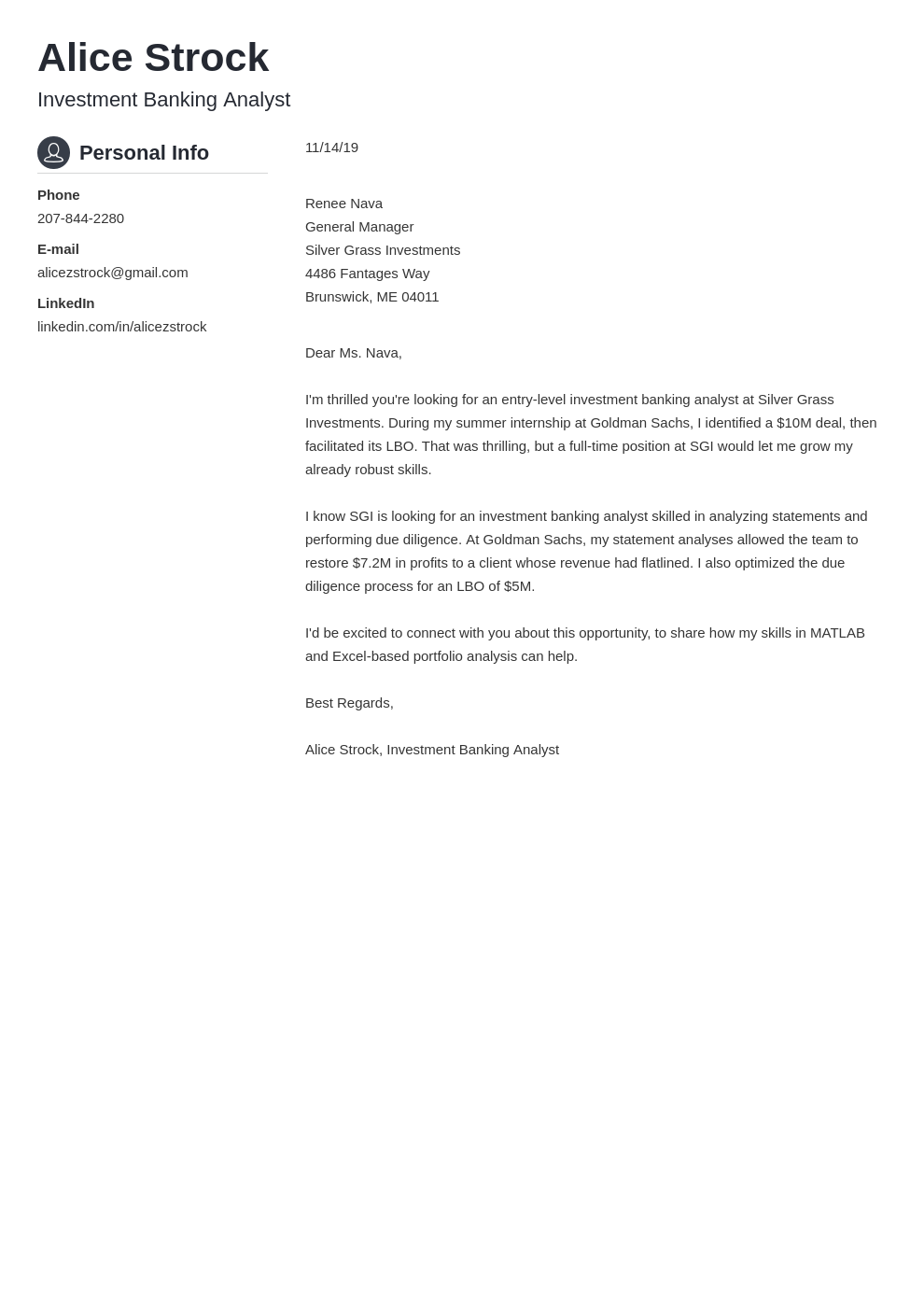 cover letter examples investment banking template crisp