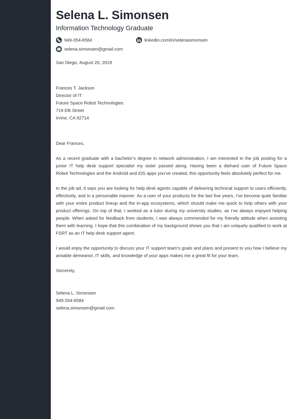 cover letter examples it template concept