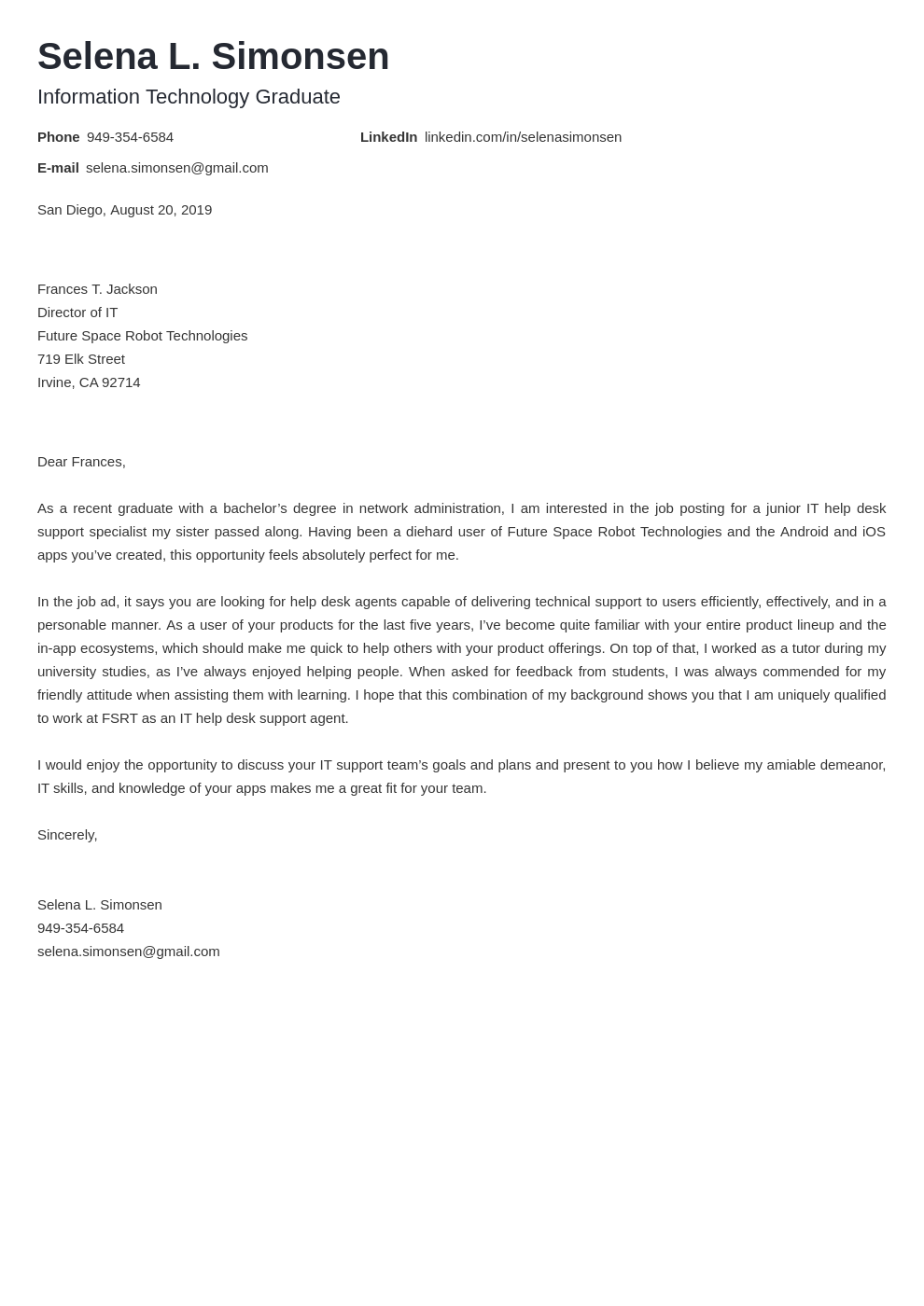 cover letter examples it template nanica
