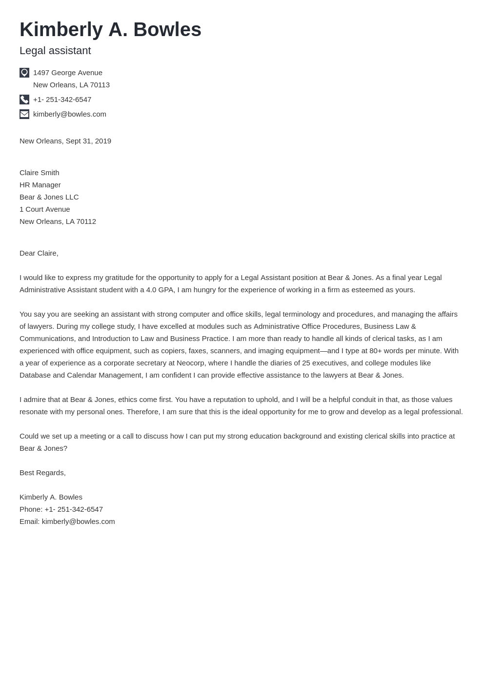 cover letter examples legal assistant template iconic