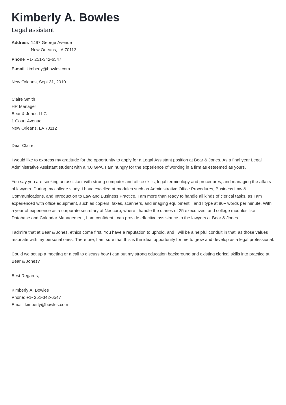 cover letter examples legal assistant template nanica