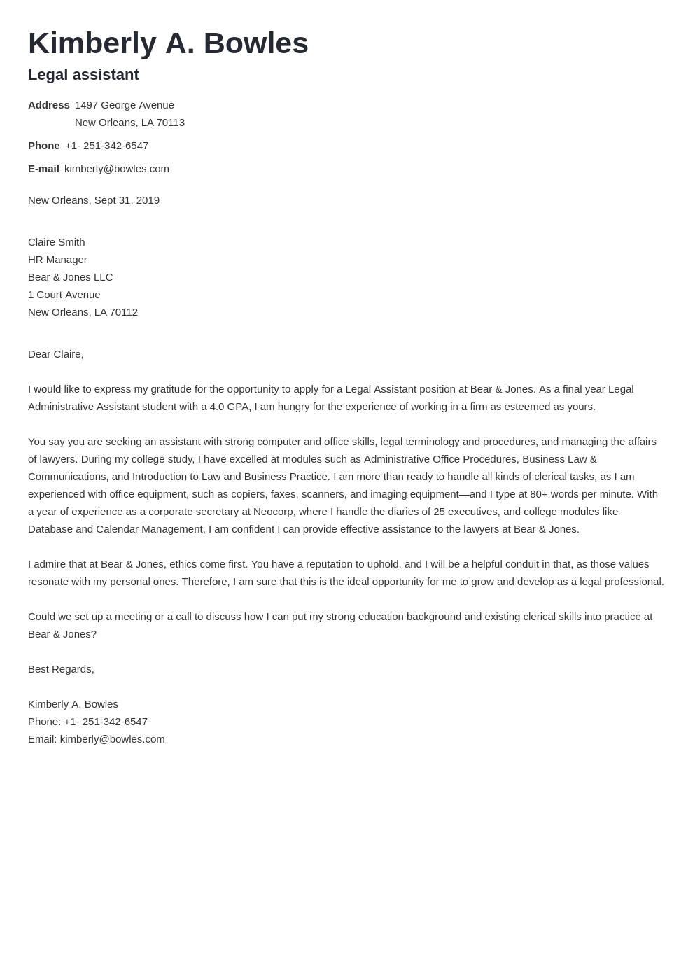 cover letter examples legal assistant template valera