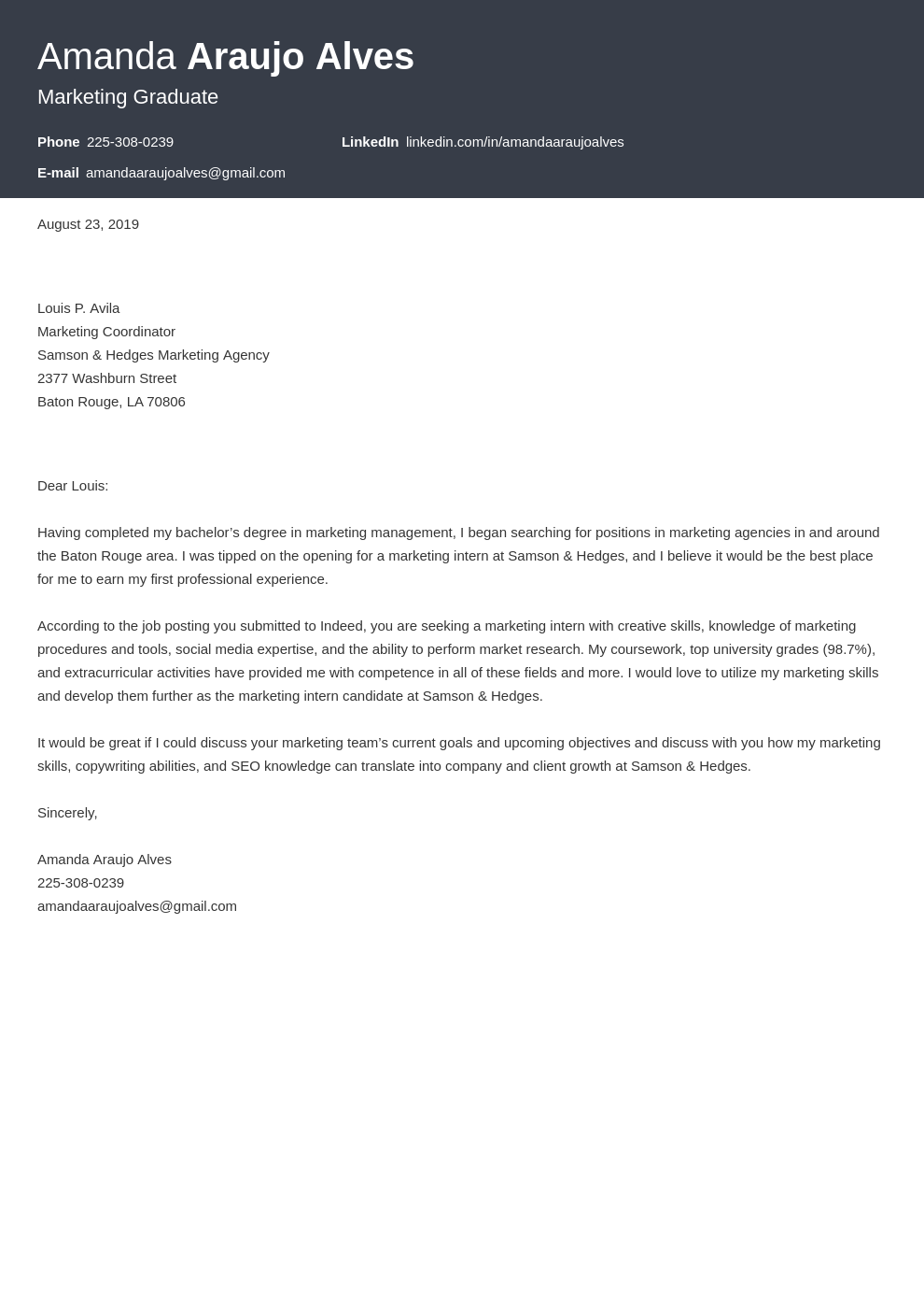 cover letter examples marketing template influx