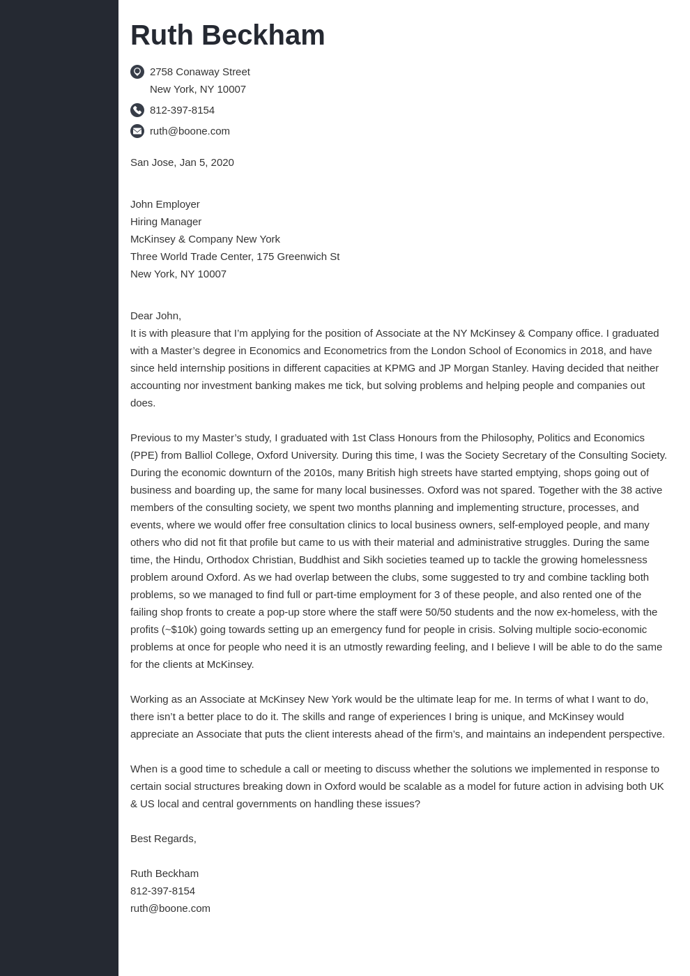 cover letter examples mckinsey template concept uk