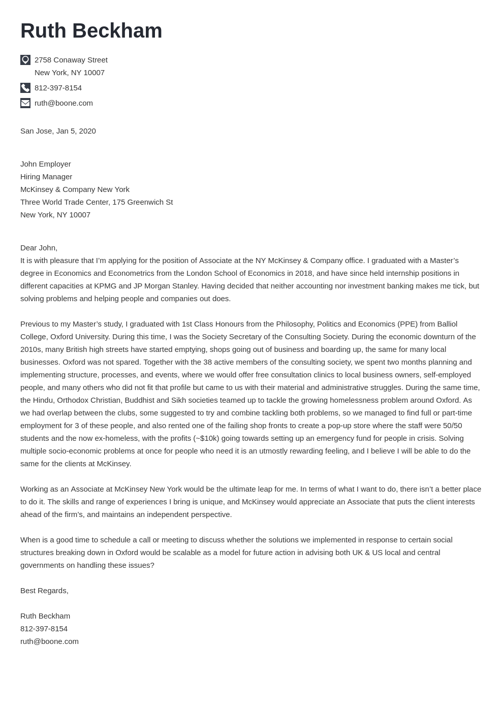 cover letter examples mckinsey template iconic