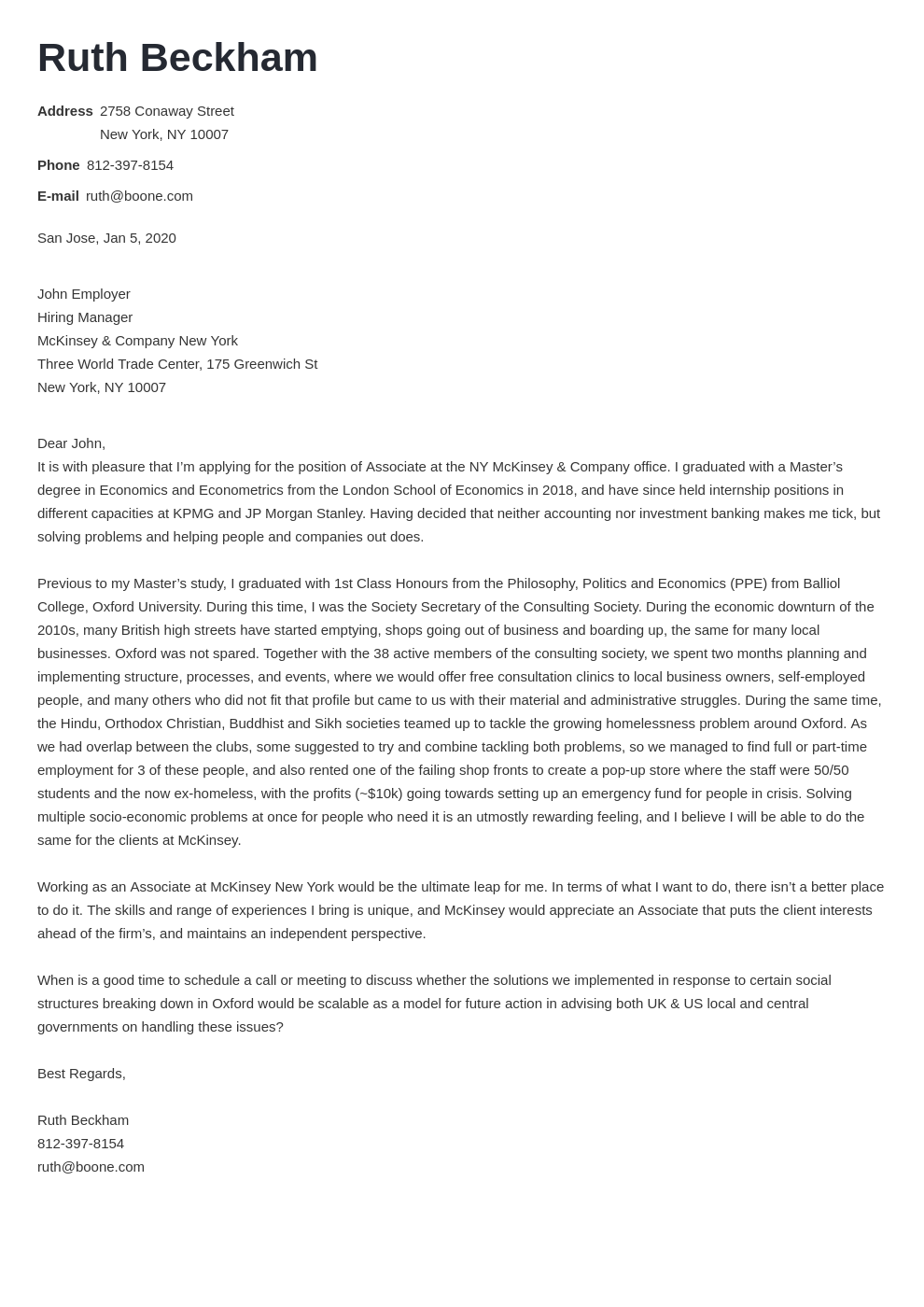 cover letter examples mckinsey template valera