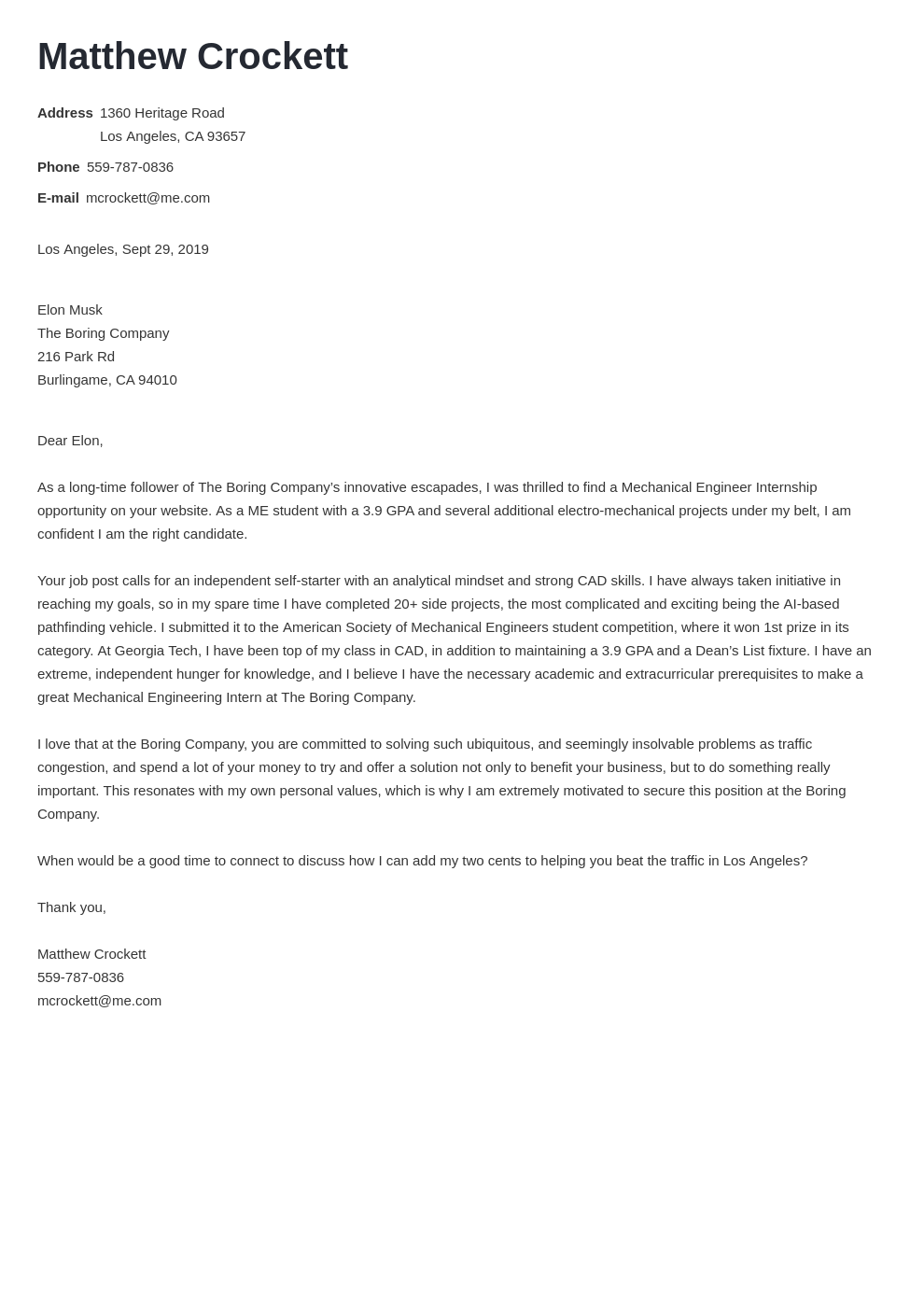 cover letter examples mechanical engineer template minimo