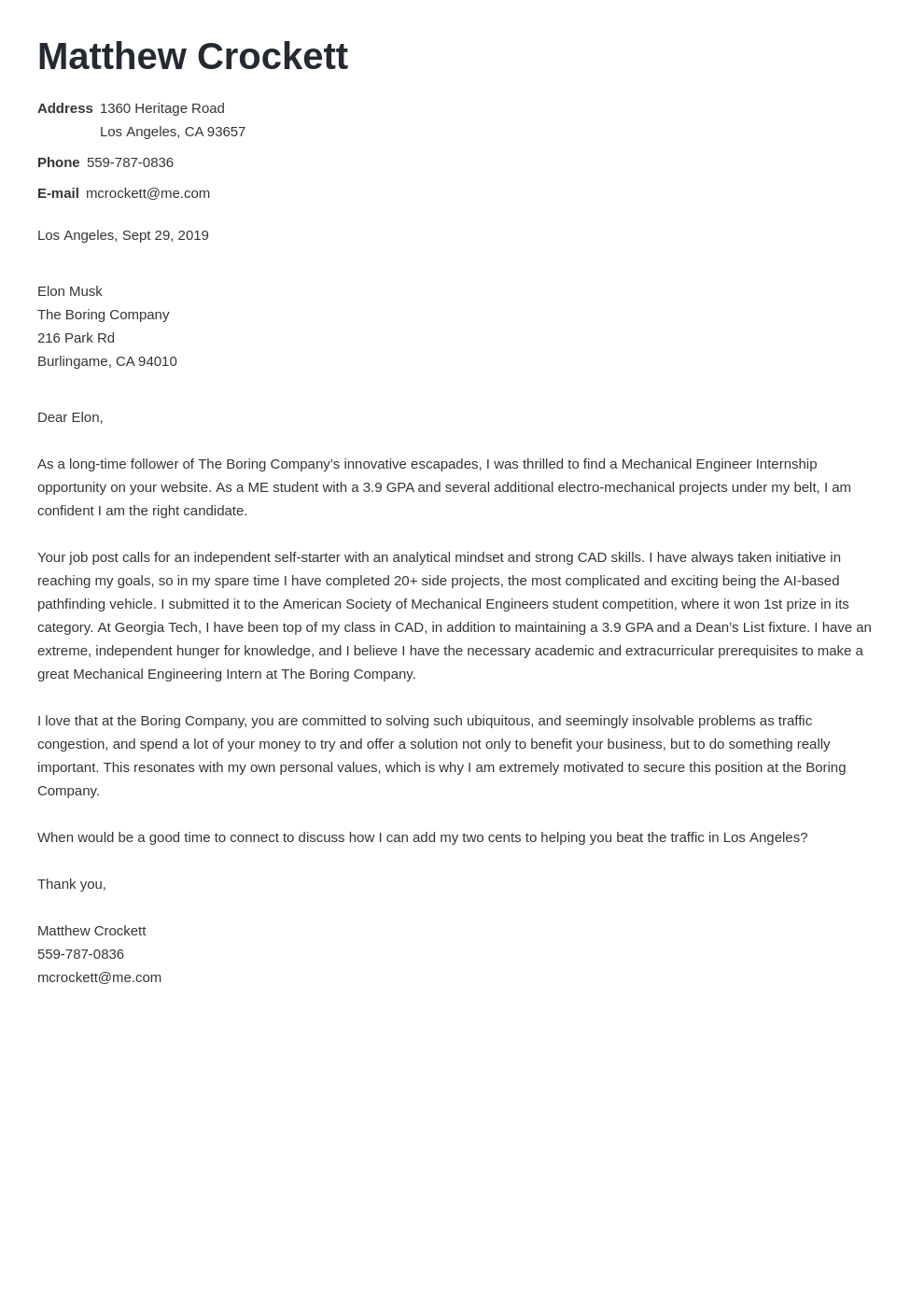 cover letter examples mechanical engineer template nanica