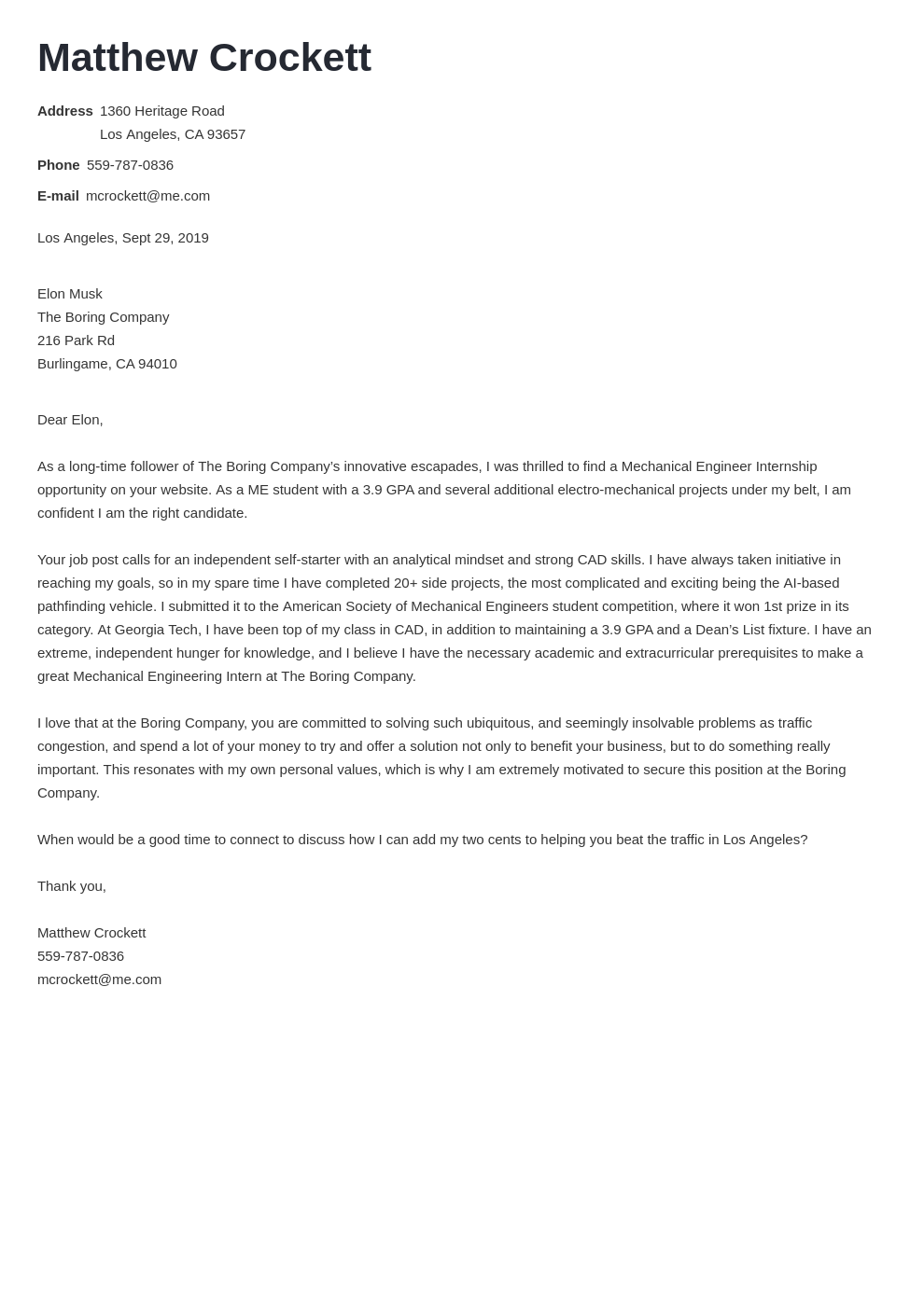 cover letter examples mechanical engineer template valera