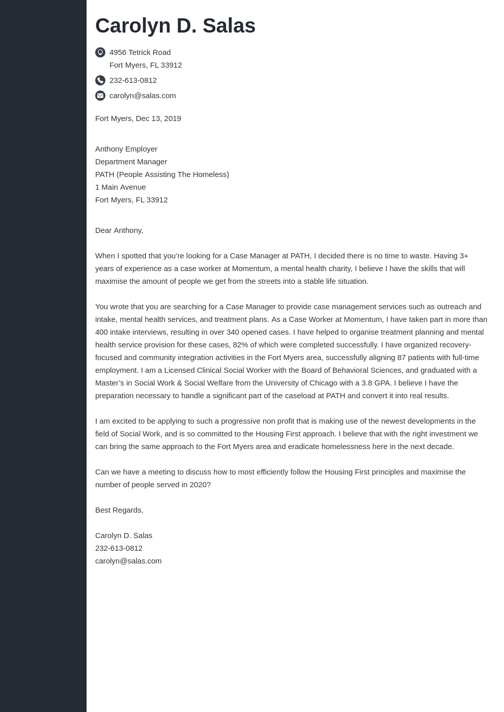 cover letter examples non profit template concept