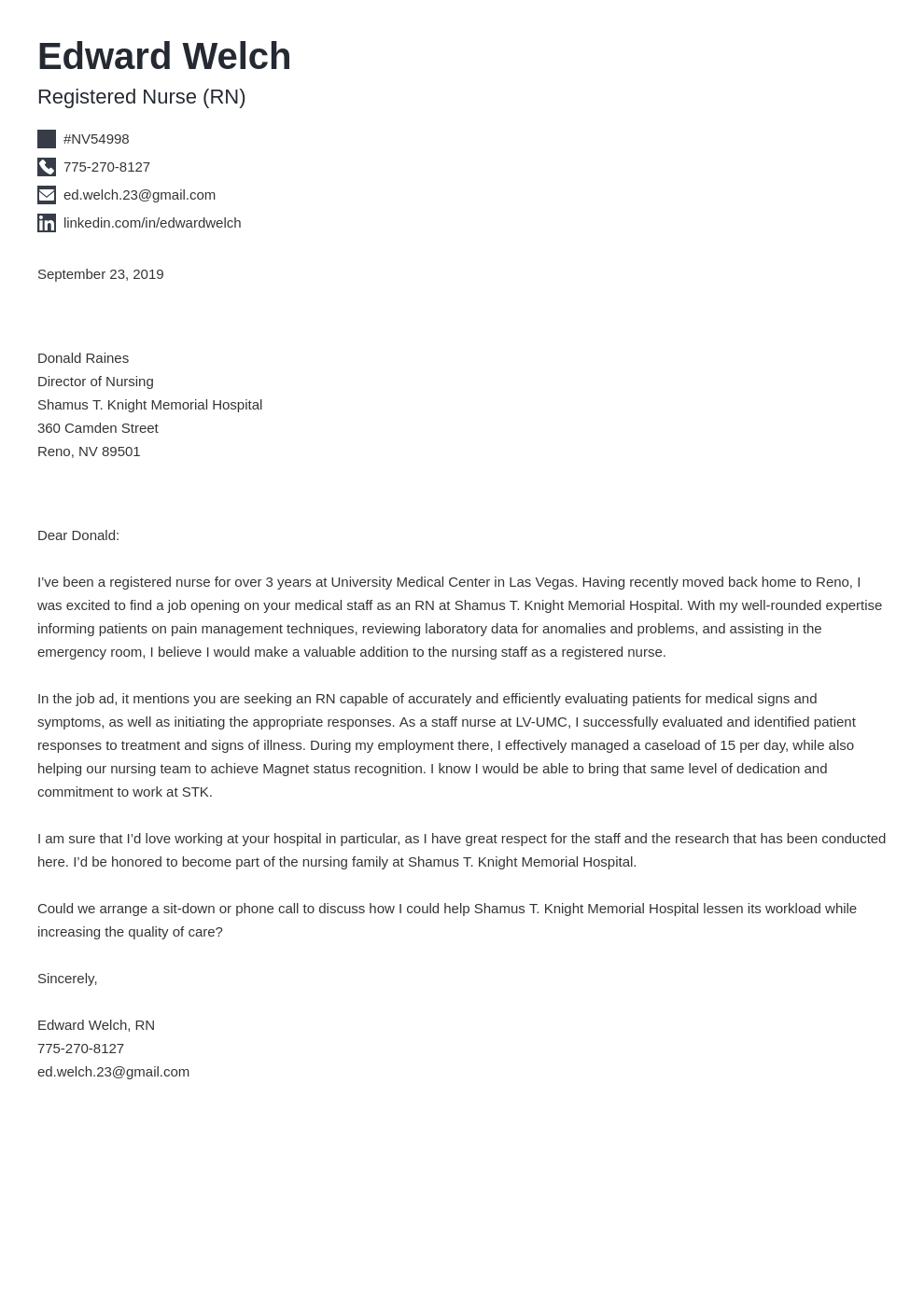 cover letter examples nursing template iconic