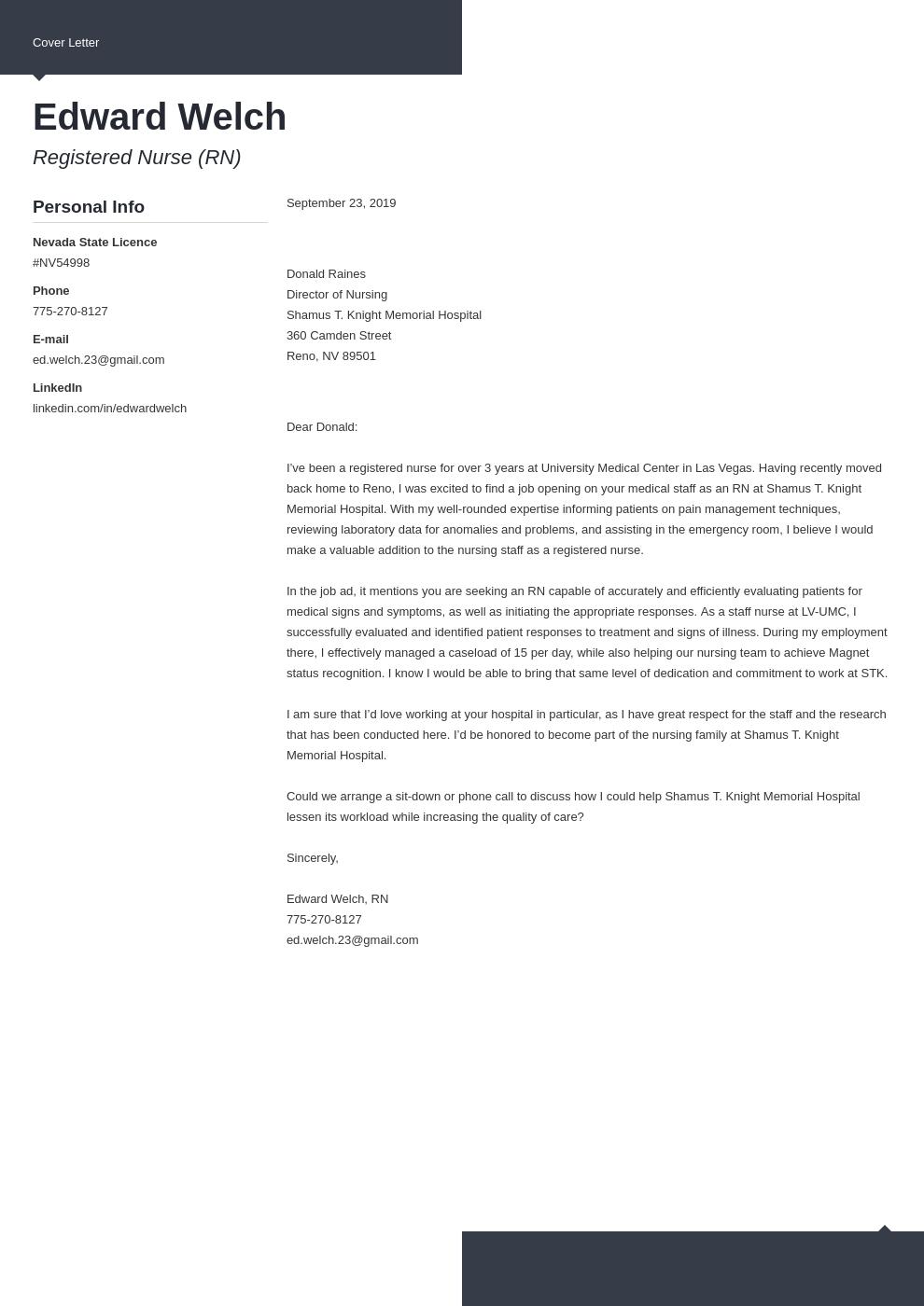 cover letter examples nursing template modern uk