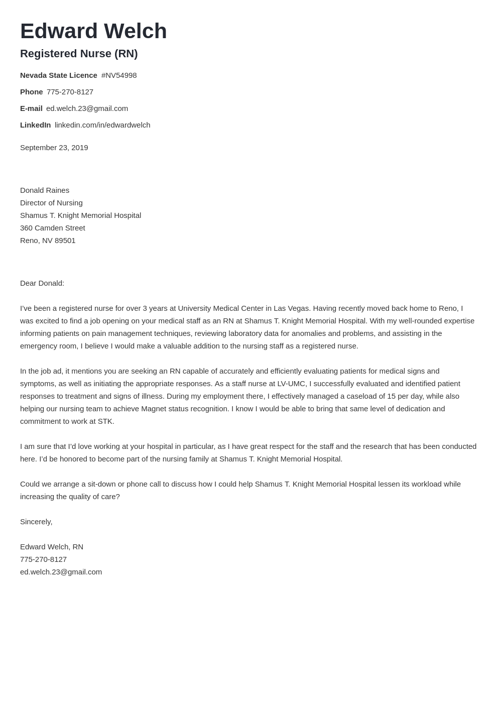 cover letter examples nursing template valera