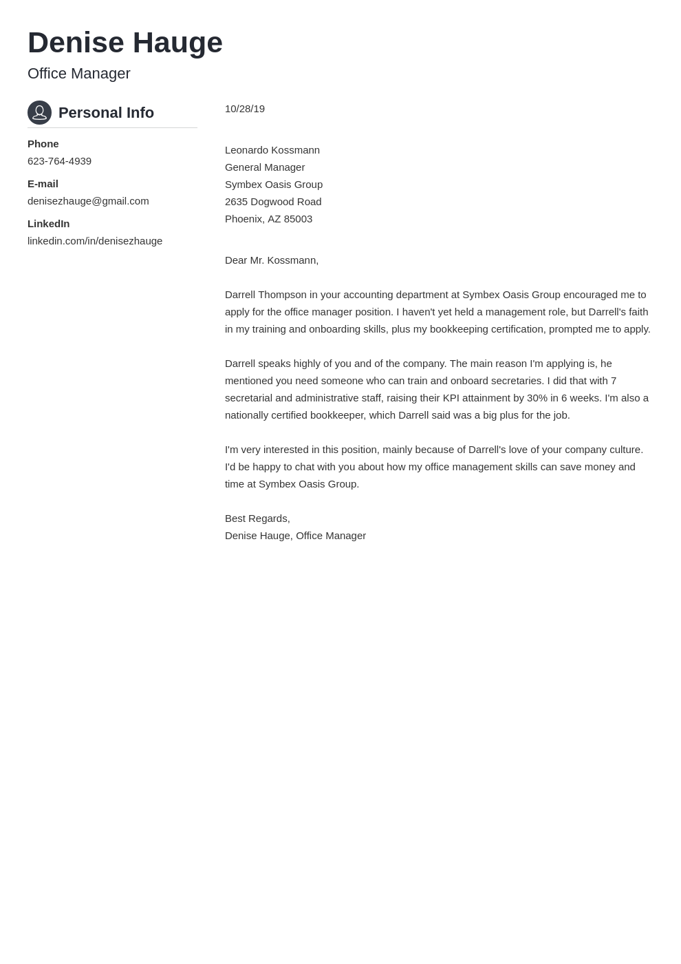 cover letter examples office manager template crisp uk