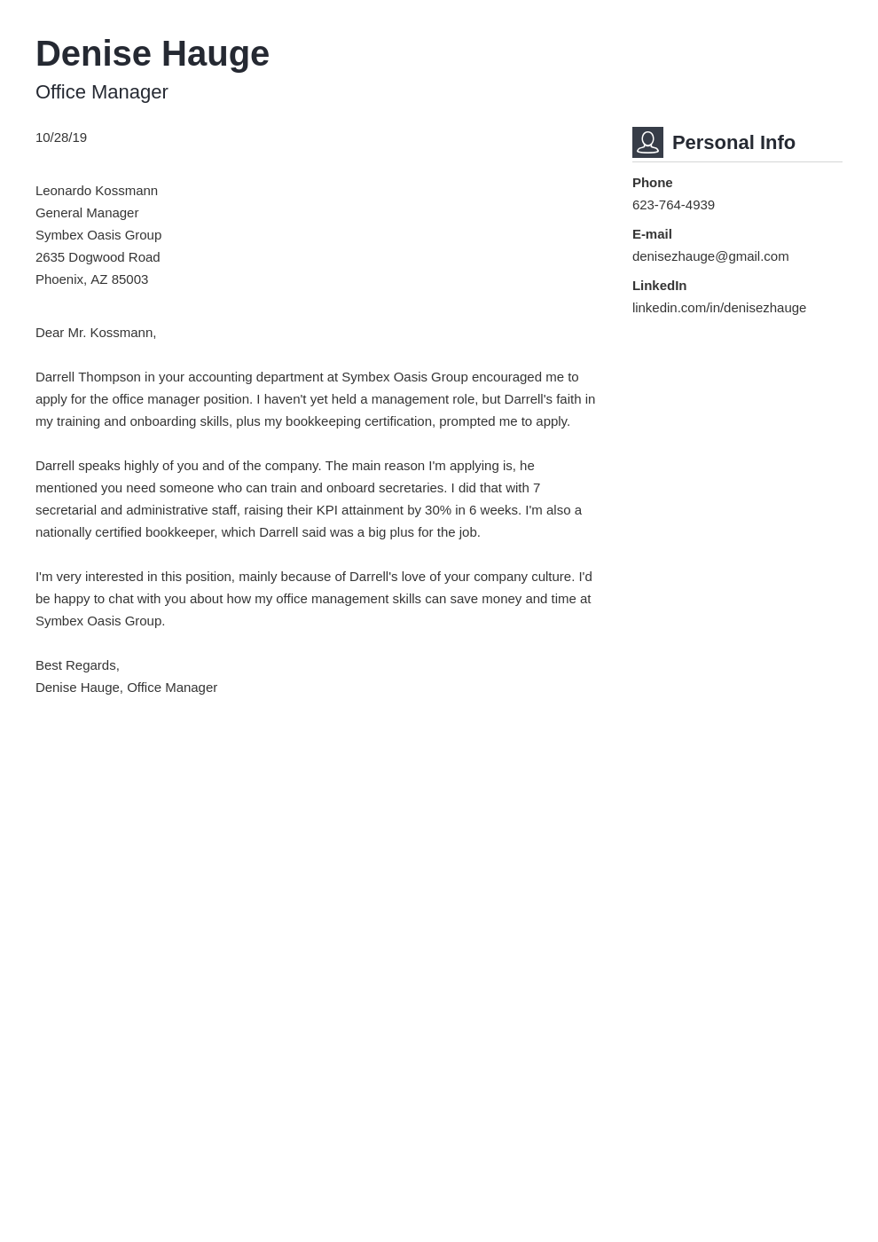 cover letter examples office manager template vibes
