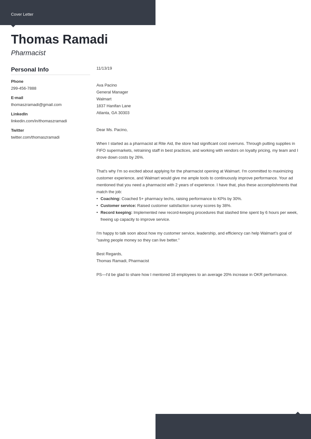 cover letter examples pharmacist template modern