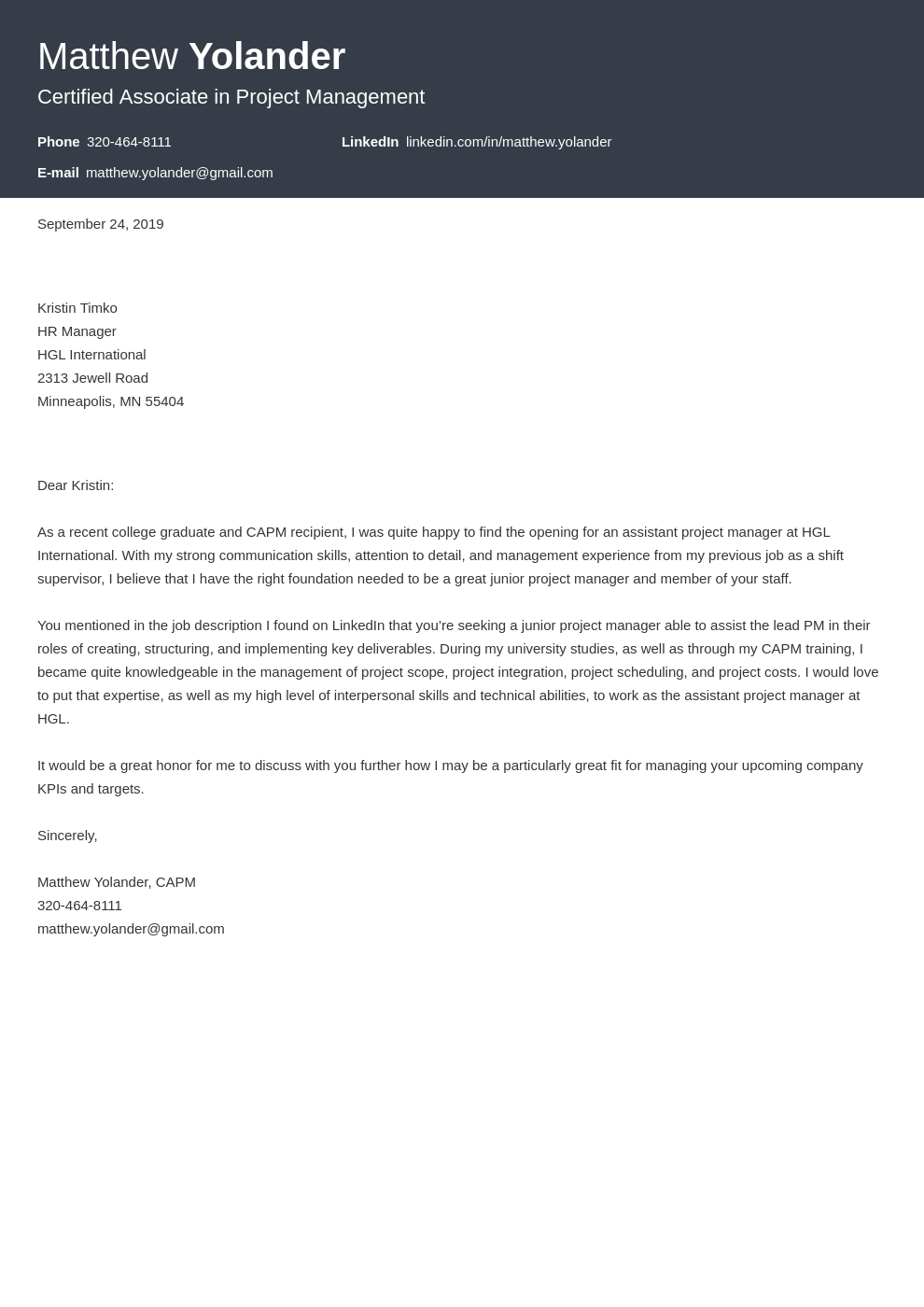 cover letter examples project manager template diamond