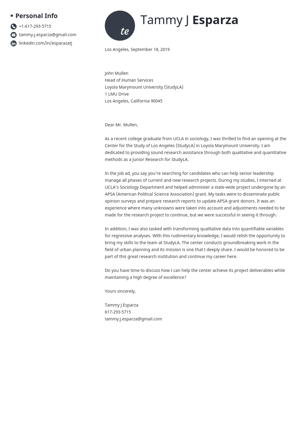 cover letter examples research assistant template initials uk