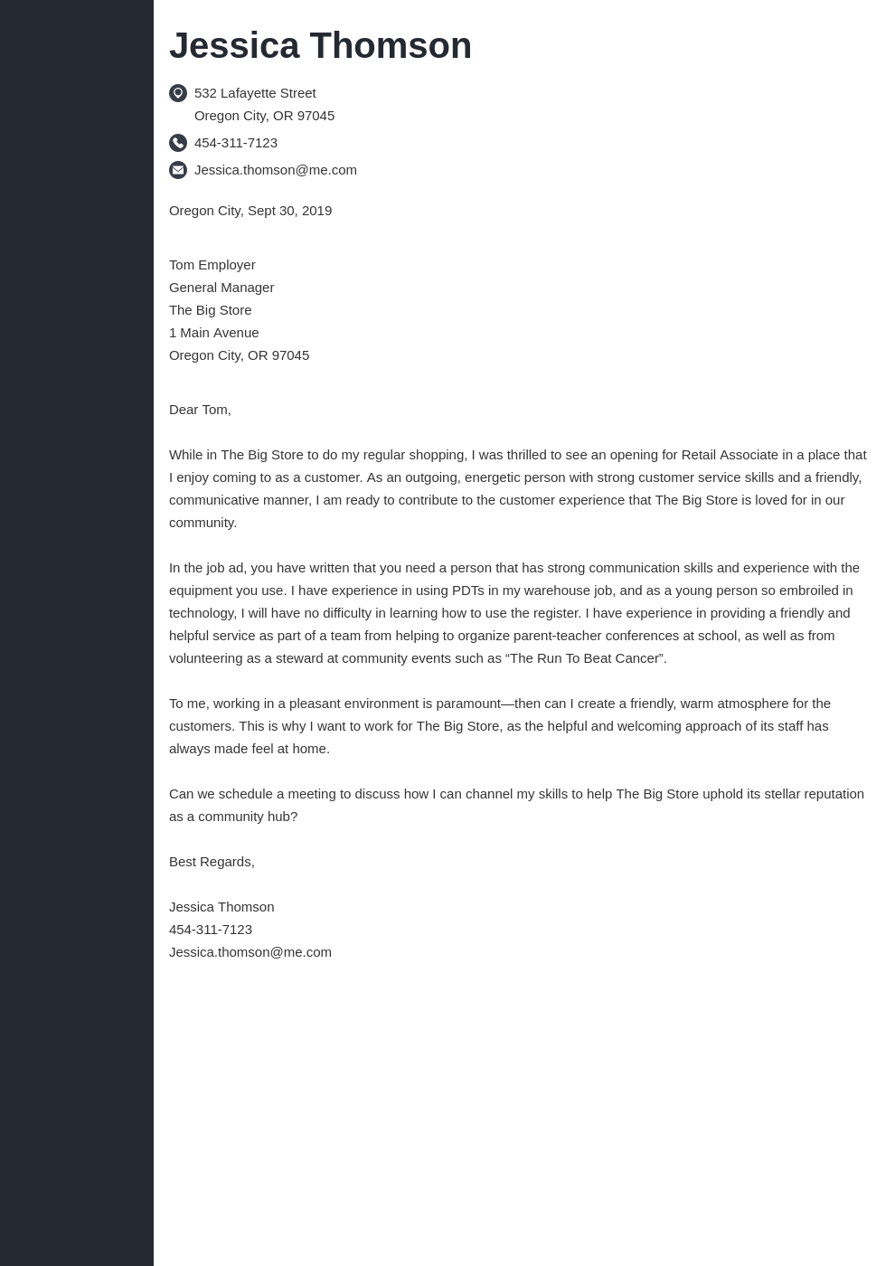 cover letter examples retail template concept uk