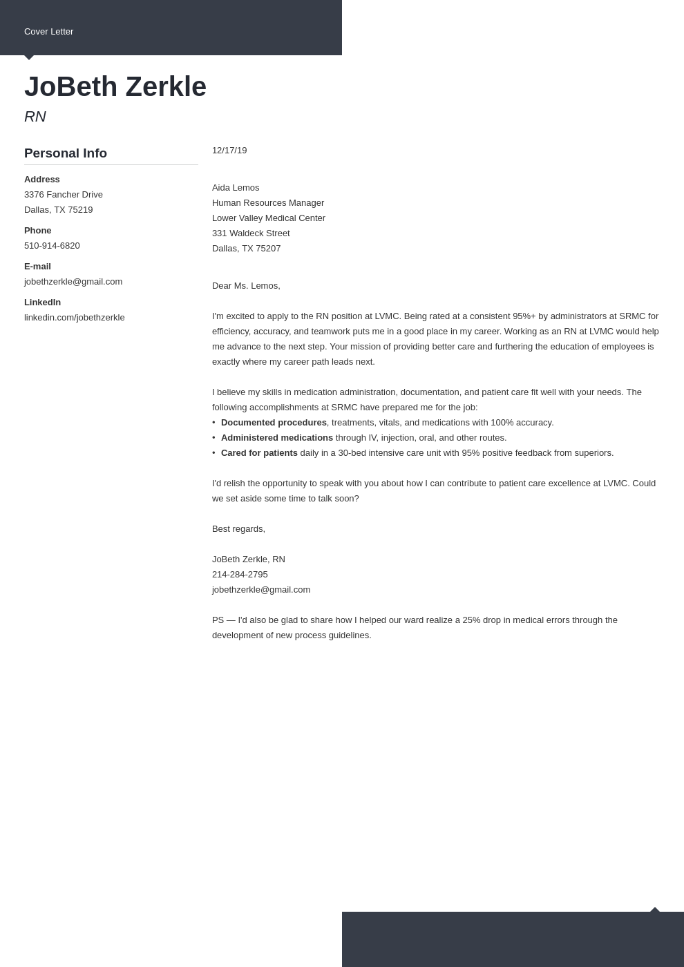 cover letter examples rn template modern