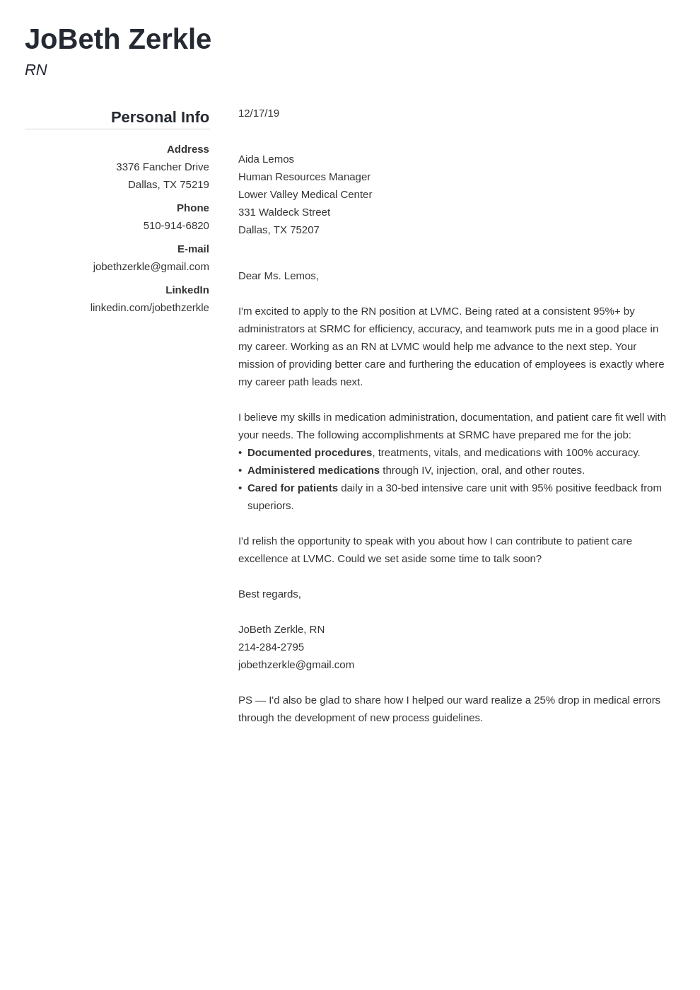 cover letter examples rn template simple
