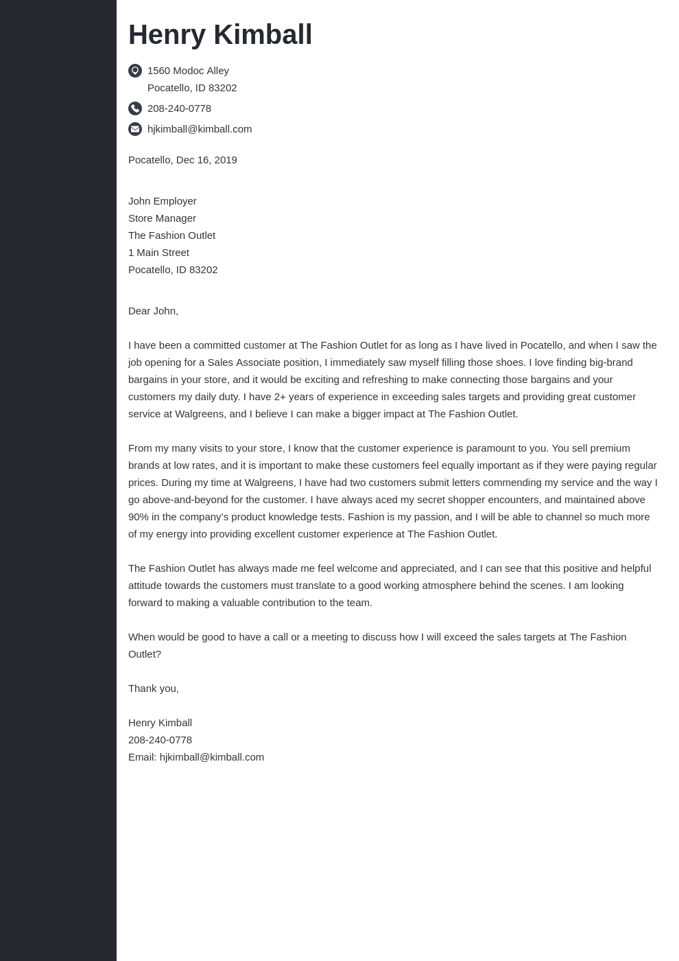 cover letter examples sales associate template concept uk