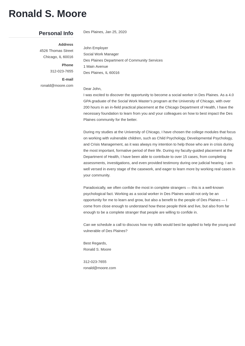 cover letter examples social work template simple