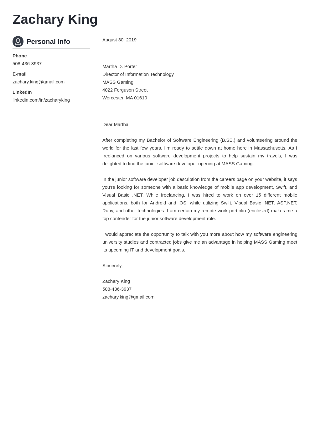 cover letter examples software engineer template crisp