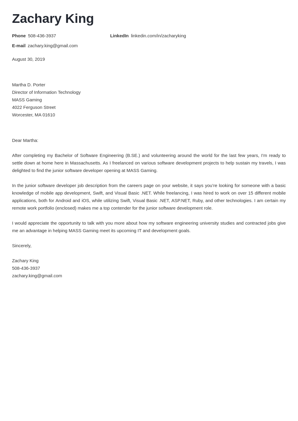 cover letter examples software engineer template valera