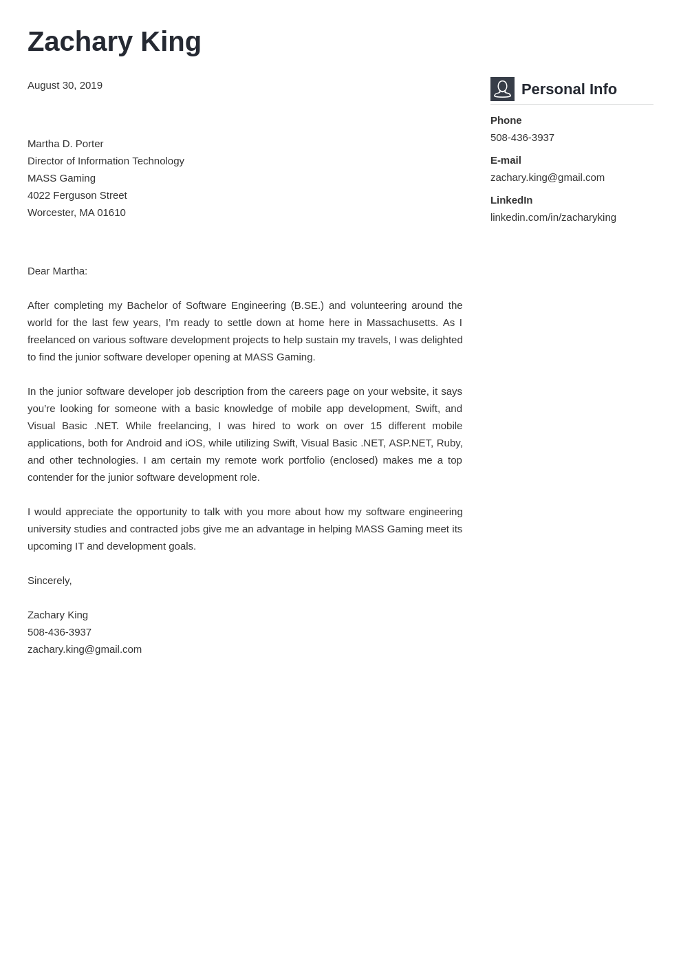 cover letter examples software engineer template vibes