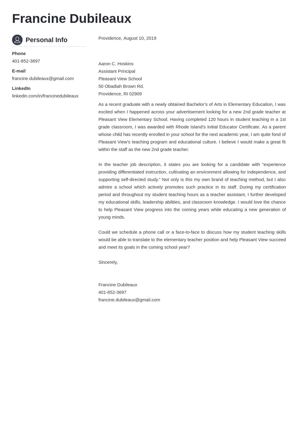cover letter examples teacher template crisp uk