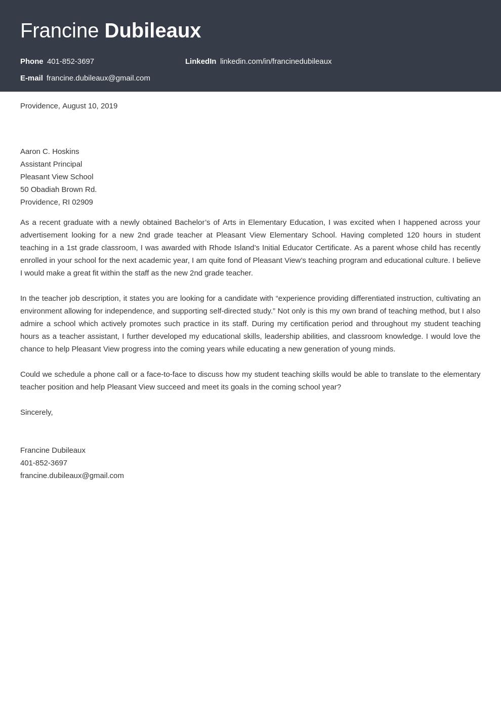 cover letter examples teacher template diamond