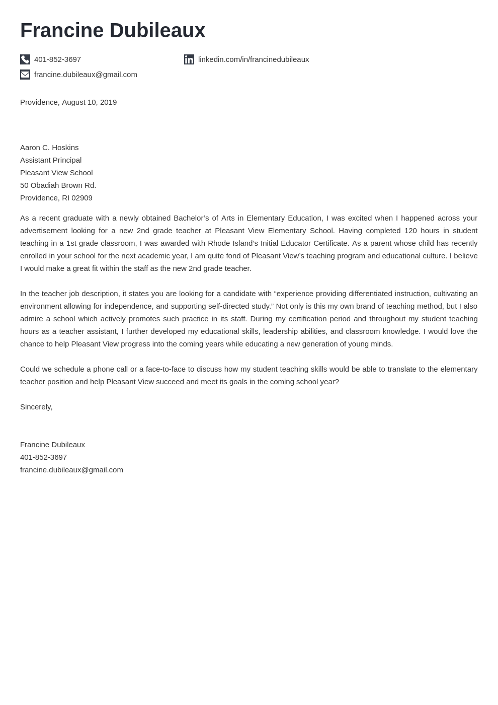 cover letter examples teacher template iconic