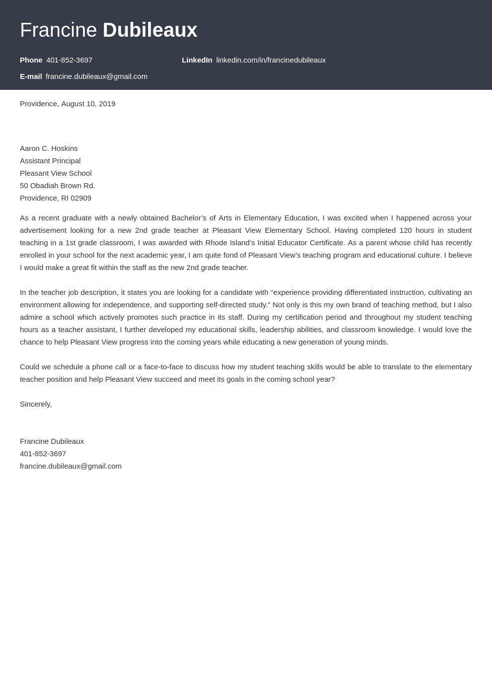 cover letter examples teacher template influx
