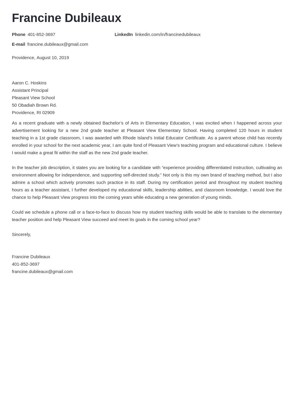 cover letter examples teacher template nanica uk