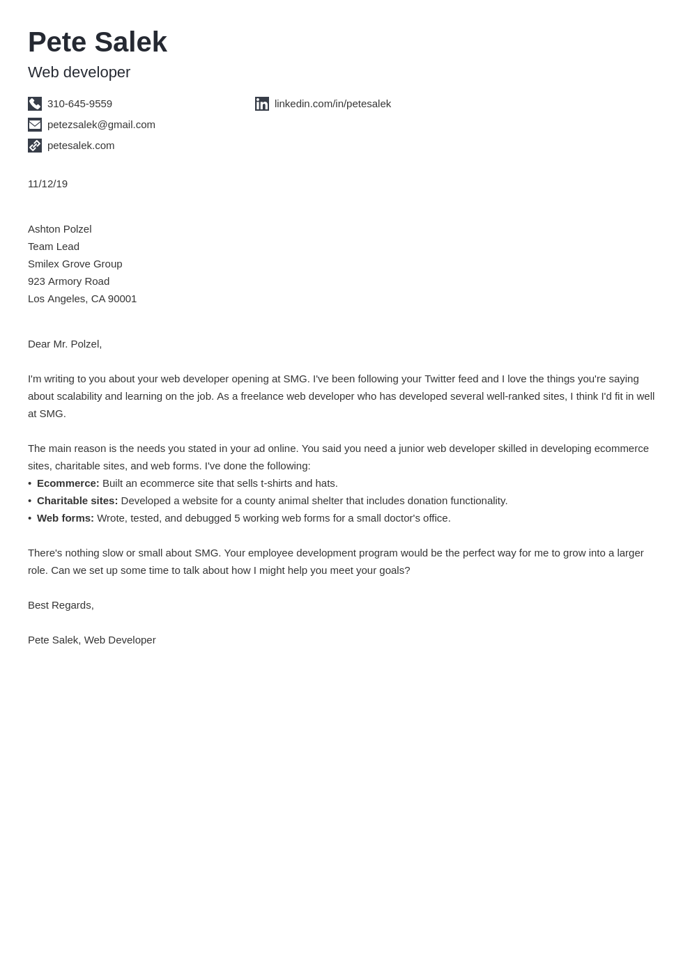 cover letter examples web developer template iconic uk