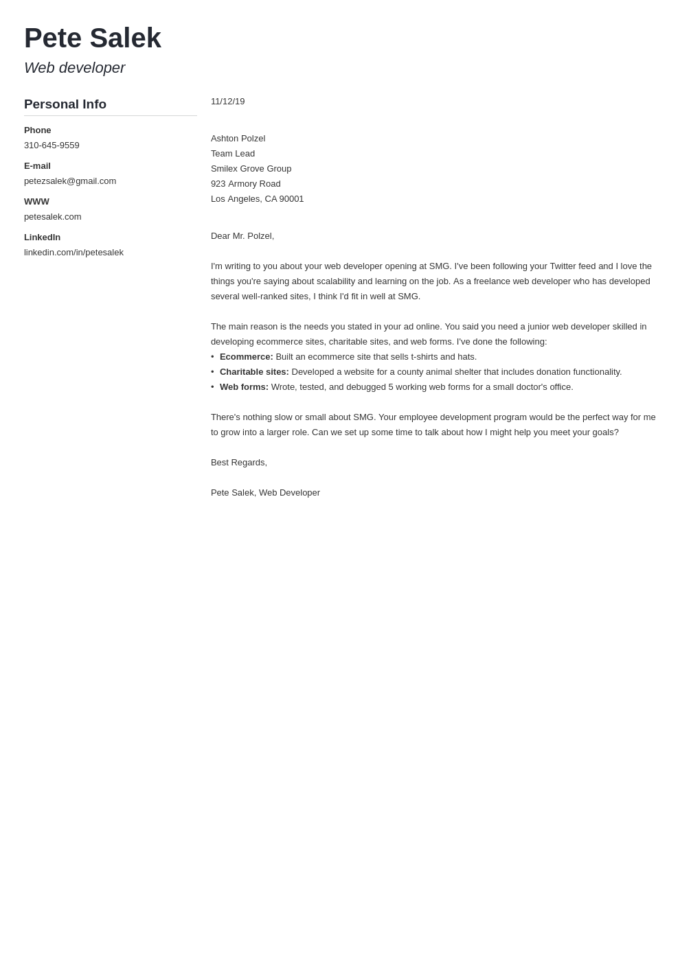cover letter examples web developer template muse