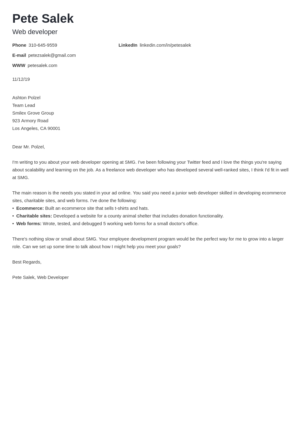 cover letter examples web developer template nanica