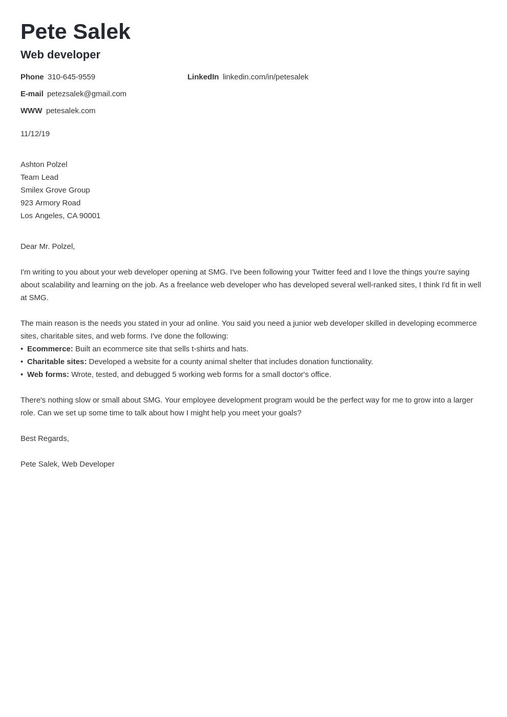 cover letter examples web developer template valera