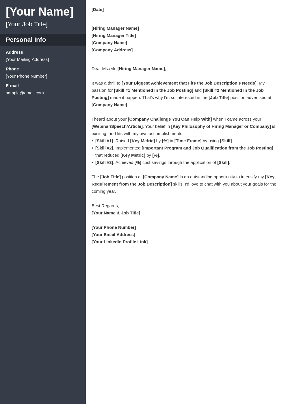 cover letter generic template cascade uk