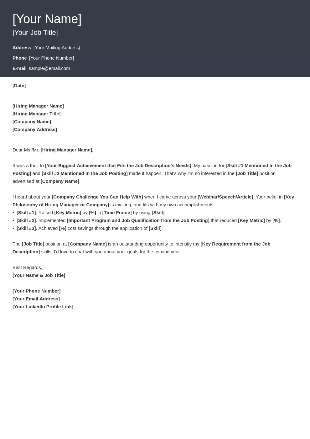 cover letter generic template diamond