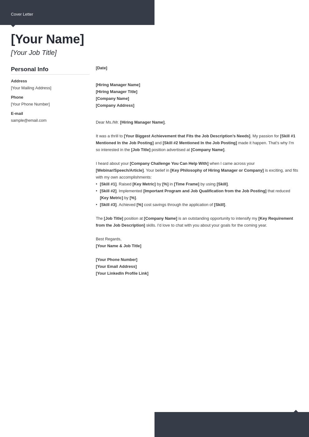 cover letter generic template modern uk