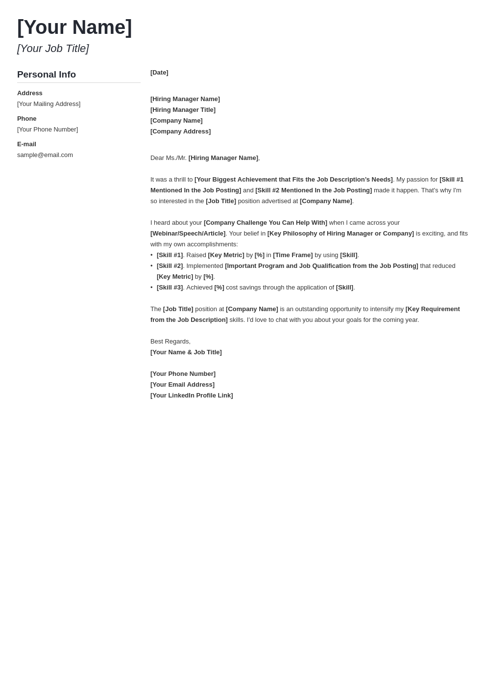 cover letter generic template muse uk