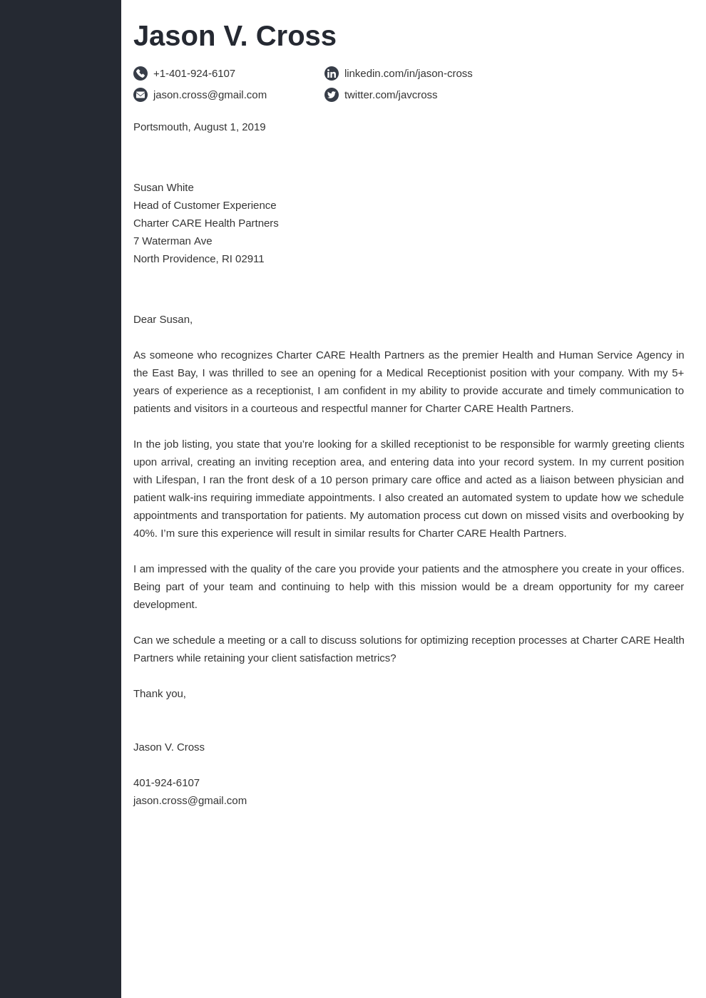 cover letter how to address template concept