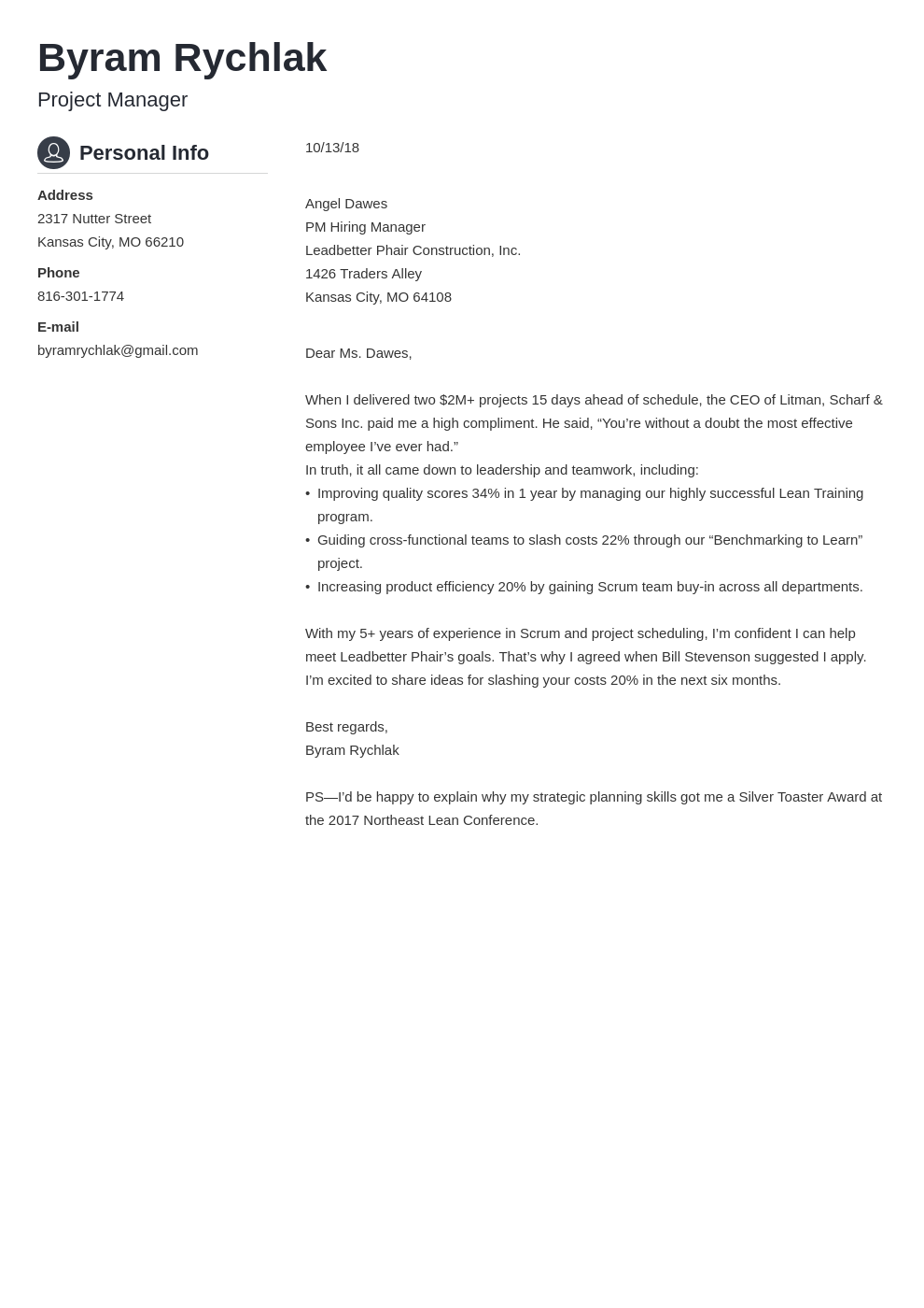 cover letter how to end template crisp