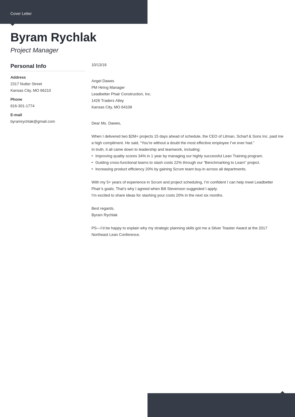 cover letter how to end template modern